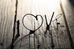 idée de Saint-Valentin de mot d'amour, carte d'invitation Photo stock