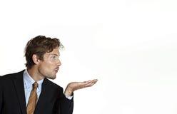 Idée de soufflement d'homme d'affaires Photos libres de droits