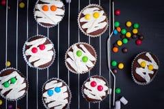 Idée drôle pour le dessert de Halloween photographie stock libre de droits
