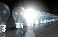 Idée lumineuse illustration stock
