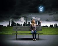 Idée lumineuse Image libre de droits