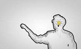 Idée lumineuse Photos libres de droits