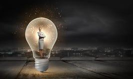 Idée lumineuse ! Photo stock
