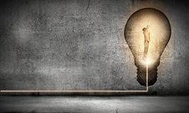 Idée lumineuse ! Image stock