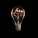 Idée lumineuse d'affaires Photo libre de droits