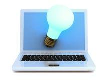 Idée lumineuse d'Internet. Image stock