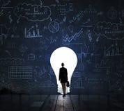 Idée lumineuse pour le nouveau succès image libre de droits