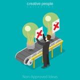 Idée non-approuvée isométrique plate des affaires 3d illustration libre de droits