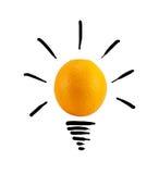 Idée orange futée Images libres de droits