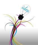 Idée se reliante de câblage d'illustration de vecteur Photographie stock libre de droits