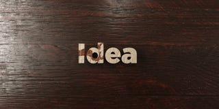 Idée - titre en bois sale sur l'érable - image courante gratuite de redevance rendue par 3D illustration de vecteur