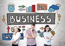 Idée, travail d'équipe et succès d'affaires Photo libre de droits