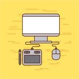 Idéer för grafisk formgivare royaltyfri illustrationer