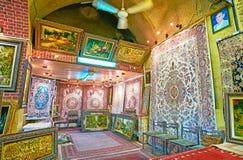 Idéer för inredesign i den Vakil basaren, Shiraz, Iran Royaltyfri Foto