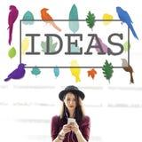 Idéer skapar idérikt kreativitettankebegrepp royaltyfria bilder