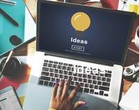 Idéer som delar online-begrepp för Websitebeskickningmål Arkivbild