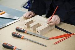 Idées avec du bois Photographie stock libre de droits