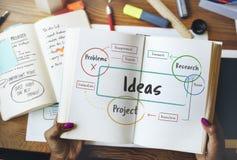 Idées créatives d'inspiration faisant un brainstorm le concept photos libres de droits