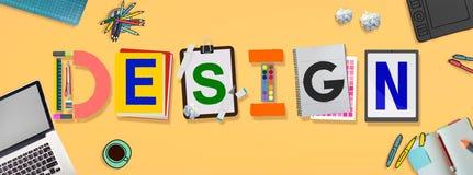 Idées créatives de conception prévoyant le concept de créativité photographie stock