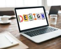 Idées créatives de conception prévoyant le concept de créativité images stock