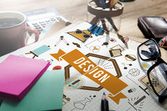 Idées créatives Planning Sketch Concept modèle de conception Photos stock