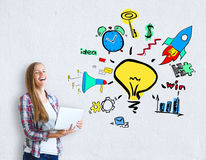 Idées créatrices d'affaires Photo libre de droits