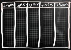Idées d'affaires manuscrites avec la craie blanche sur un tableau noir illustration libre de droits