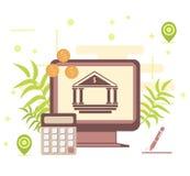 Idées d'argent d'affaires de concept de financement de banque Illustration plate de vecteur de concept de vente de Digital illustration libre de droits