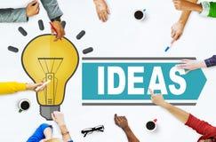 Idées d'aspirations pensant le concept de stratégie de vision d'innovation photos libres de droits