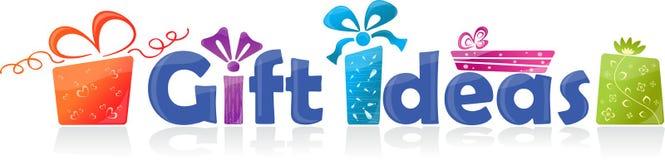Idées de cadeau, illustration de vecteur Photo stock