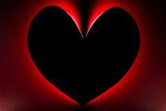 Idées de carte de Valentine de silhouette Images libres de droits