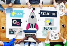 Idées de démarrage Team Success Concept de planification d'innovation photo libre de droits