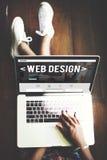 Idées de page d'accueil de site Web de web design programmant le concept Image stock