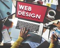 Idées de page d'accueil de site Web de web design programmant le concept Photographie stock libre de droits