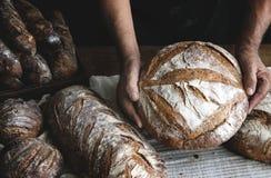 Idées de recette de photographie de nourriture de pains de pain Photos stock