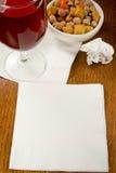 Idées de serviette de cocktail Photo libre de droits