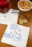 Idées de serviette de cocktail Images libres de droits