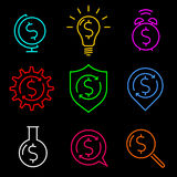 Idées de symbole dollar Photos stock