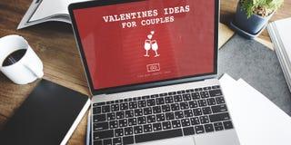 Idées de valentines pour le concept Romance de datation de pain grillé d'amour de couples Image libre de droits