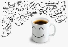 Idées et café Photo stock