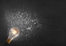 Idées lumineuses sur le mur Images stock