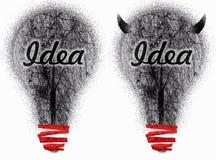 idées modifiées deux très Photo libre de droits