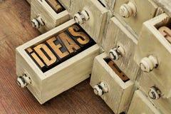 Idées ou concept de séance de réflexion Image libre de droits