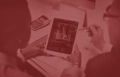 Idées pensant le concept créatif de pensées de mission images libres de droits