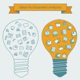 Idées pour des analystes d'affaires Photos stock
