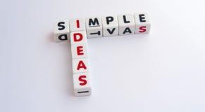 Idées simples Image libre de droits