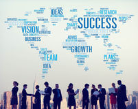 Idées Team Business Plans Connect Concept de vision de croissance de succès photo libre de droits