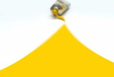 Idéia amarela Imagem de Stock Royalty Free
