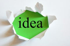 Idéia conceptual Fotografia de Stock