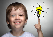 Idéia das crianças fotos de stock royalty free